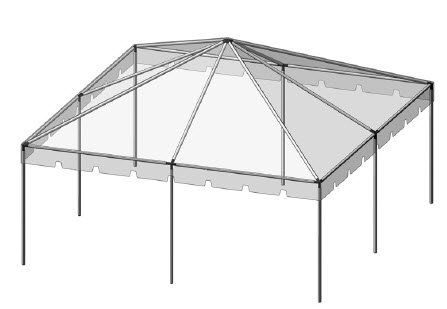 20x20 Complete Frame Tent 2 In Central Tent