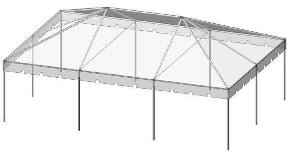 20x30 Complete Frame Tent Commercial Frame Tent 20x30