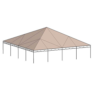 40x60 Complete Frame Tent - Central Tent