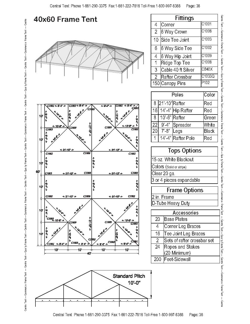 40x60 complete frame tent - central tent yamaha 40 wiring diagram ignition