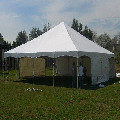 & 40x40 Tension Tent White Showcase - Central Tent