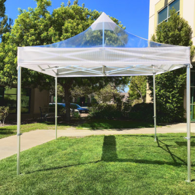 10×10 Commercial Clear Popup Tent & Commercial Tent Popup Sidewall - Central Tent