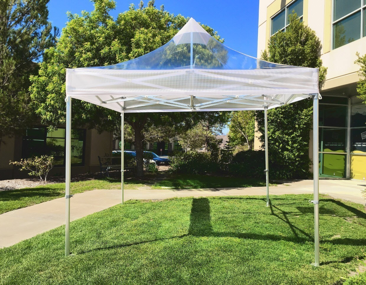 10×10 Commercial Clear Popup Tent & 10x10 Commercial Clear Popup Tent - Central Tent